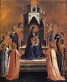 Virgin and Child Enthroned with Twelve Angels - Fra (Guido di Pietro) Angelico