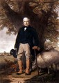 Portrait of Samuel Wiley with prize sheep - William M. Hay