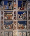 Scenes with decorative bands - Giotto Di Bondone
