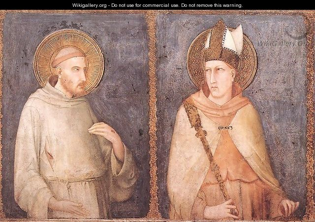 St Francis and St Louis of Toulouse - Simone Martini