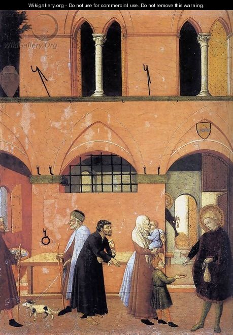 St Anthony Distributing his Wealth to the Poor - Master of the Osservanza