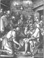 Small Passion 9. Christ Washing Peter's Feet - Albrecht Durer