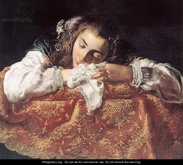 Sleeping Girl - Domenico Feti