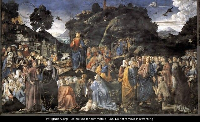 Sermon on the Mount - Cosimo Rosselli