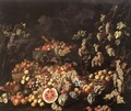 Still-Life with Fruit and Flowers - Giuseppe Recco