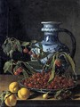 Still-Life with Fruit and a Jar - Luis Eugenio Melendez