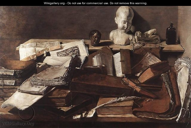 Still-Life with Books - Unknown Painter