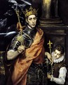 St Louis, King of France, with a Page - El Greco (Domenikos Theotokopoulos)
