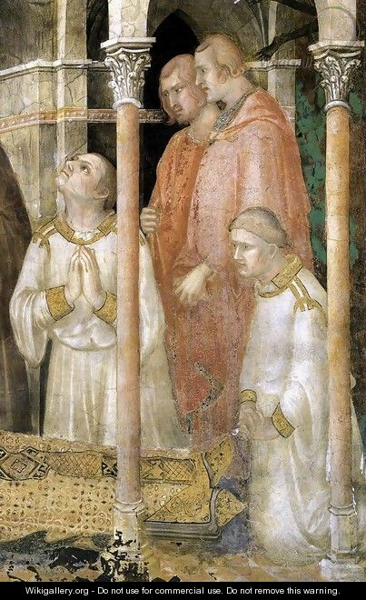 The Death of St Martin - Simone Martini