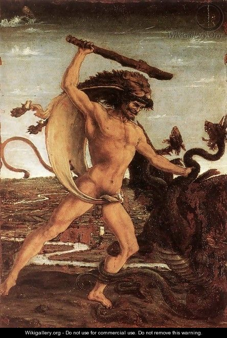 Hercules and the Hydra - Antonio Del Pollaiuolo