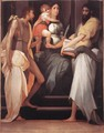 Madonna Enthroned between Two Saints - Rosso Fiorentino (Giovan Battista di Jacopo)