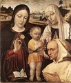 Madonna and Child, St Catherine and the Blessed Stefano Maconi - Bernadino Bergognone