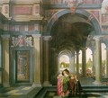 Palace Courtyard with Figures - Dirck Van Delen