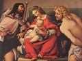 Madonna with the Child and Sts Rock and Sebastian - Lorenzo Lotto