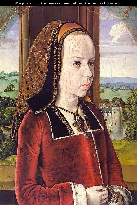 Portrait of Margaret of Austria (Portrait of a Young Princess) - Unknown Painter