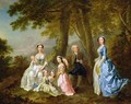 Samuel Richardson seated with his second family - Francis Hayman