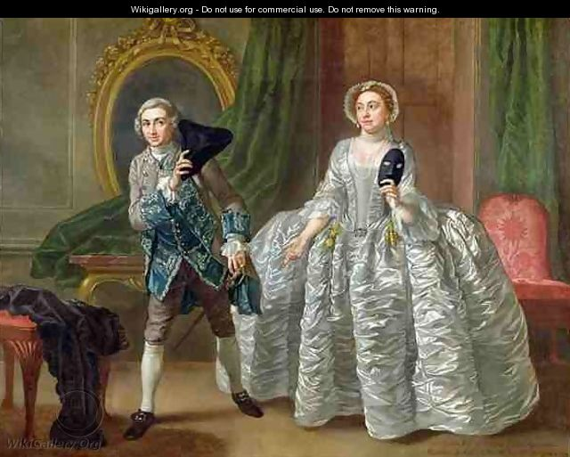 David Garrick and Mrs Pritchard in The Suspicious Husband - Francis Hayman