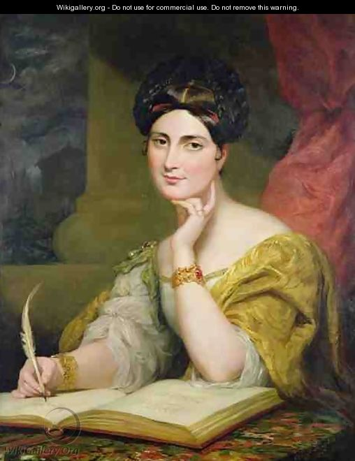 Portrait of the Hon Mrs Caroline Norton - Sir George Hayter