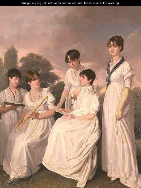 Portrait of a Mother and Her Four Daughters - Sir George Hayter