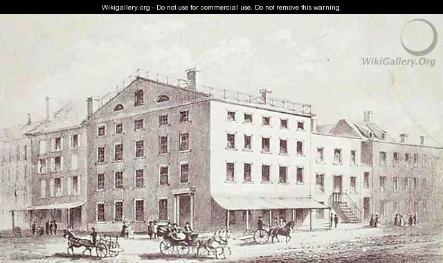 Fraunces Tavern on the corner of Broad and Peel Streets New York City - George Hayward