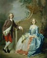 Portrait of a Gentleman and his Wife - Francis Hayman