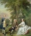 Jonathan Tyers and his Daughter Elizabeth and her Husband John Wood - Francis Hayman