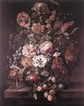 Bouquet in a Glass Vase - Rachel Ruysch