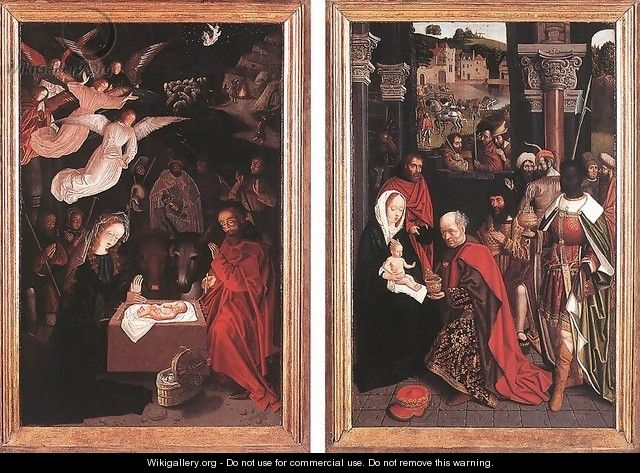 Adoration of the Shepherds and Adoration of the Magi - Unknown Painter