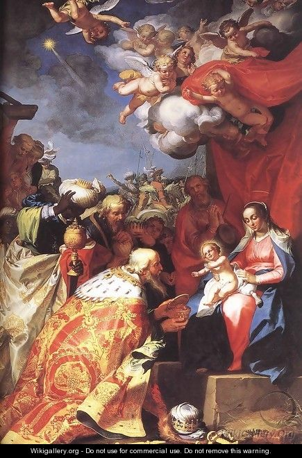 Adoration of the Magi - Abraham Bloemaert