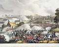 The Centre of the British army in Action in the battle of Waterloo - William Heath