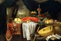 Still Life with a Lobster Lemons and a Lute - Jan van den Hecke