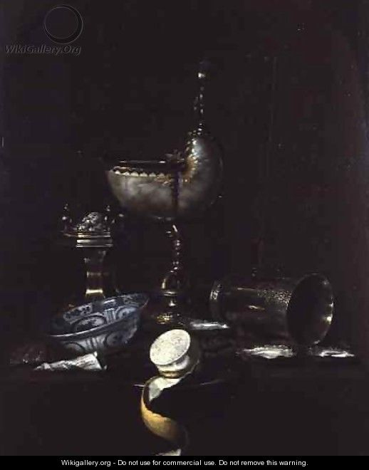 Still Life with Nautilus Shell Cup - Gerrit Willemsz. Heda