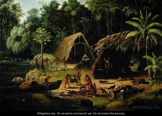 Carib Village British Guyana - W.S. Hedges
