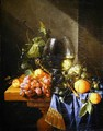 Still life with wine and grapes - Cornelis De Heem