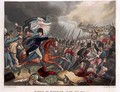 The Duke of Wellington 1769-1852 with troops advancing at the Battle of Waterloo - (after) Heath, William