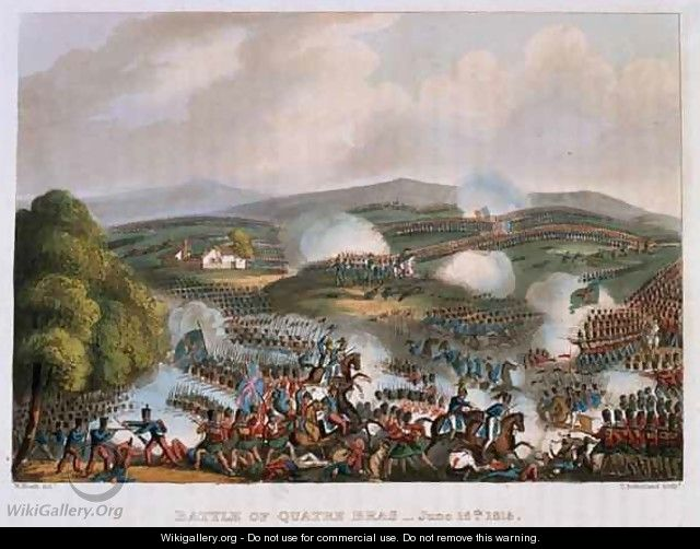 The Battle of Quatre Bras on 16th June 1815 - (after) Heath, William