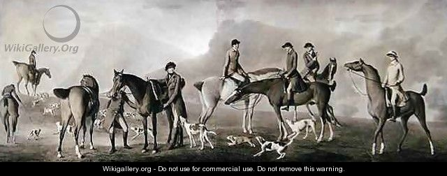 Tom Conolly of Castletown Hunting with his Friends - Robert Healy
