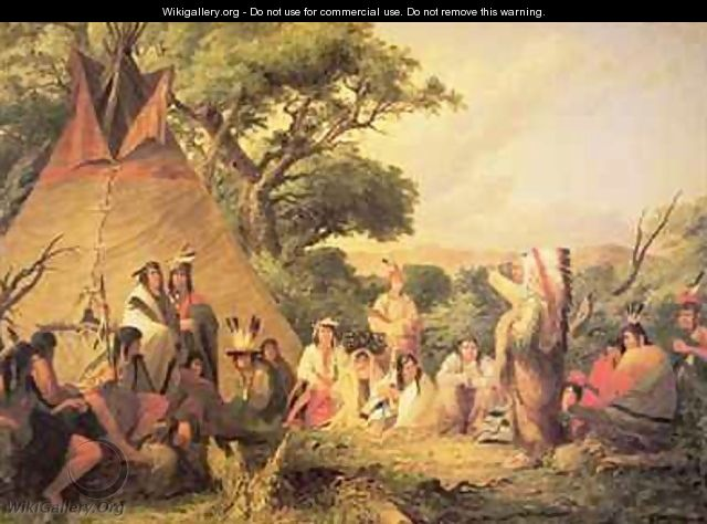 Sioux Indian Council - Seth Eastman
