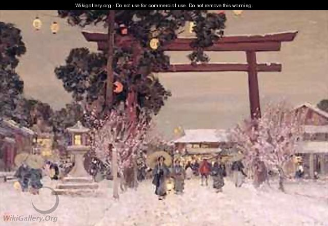View of a Shinto Shrine - Sir Alfred East