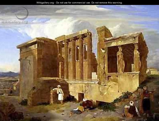 The Erechtheum Athens with Figures in the Foreground - Sir Charles Lock Eastlake
