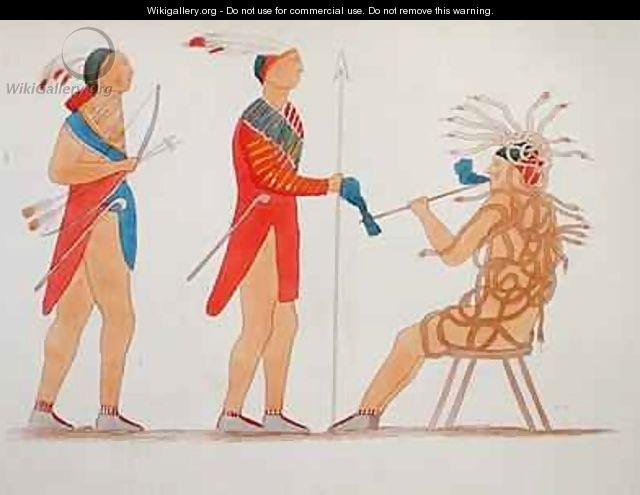 Atotarho the First Iroouols Ruler from Information Respecting the History Condition and Prospects of the Indian Tribes of the United States - Seth Eastman
