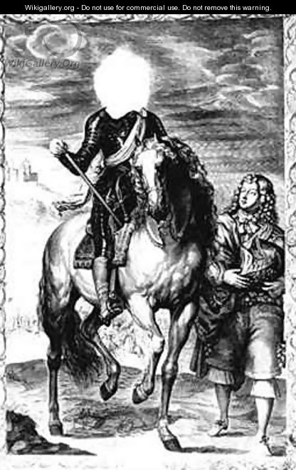 Headless equestrian portrait originally of Louis of France - (after) Dyck, Sir Anthony van