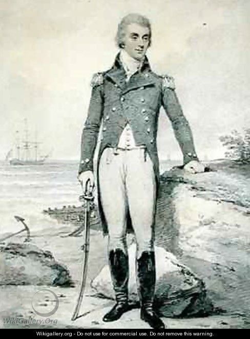 Thomas Wells 1759-1811 Vice Admiral of the Red - Henry Edridge