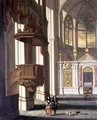 Church interior with elegant figures - Wilhelm Schubert van Ehrenberg