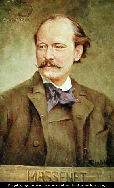 Portrait of Jules Massenet French composer - Albert Eichhorn