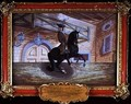 No 36 A brown bay horse of the Spanish Riding School performing a pirouette near the ground - Baron Reis d' Eisenberg
