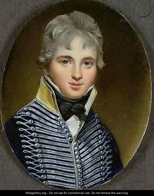 Miniature of William Howe de Lancey - George Engleheart