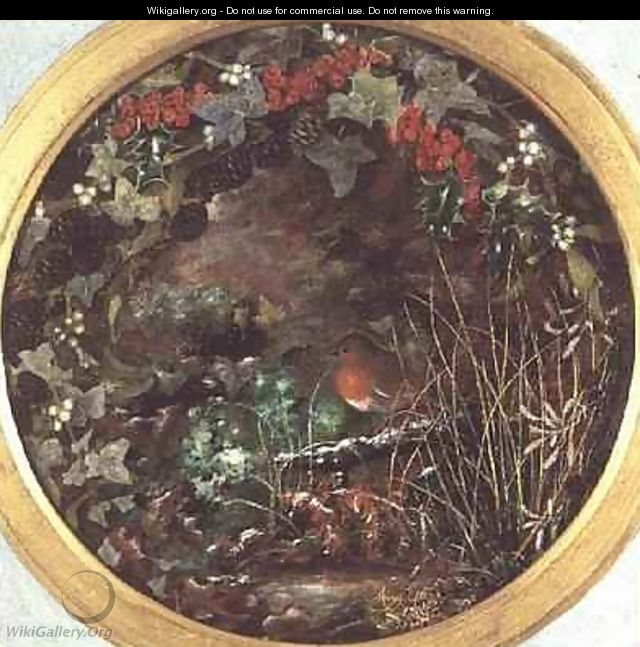 Winter Roundel with Robin - Mary Ensor