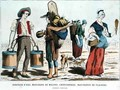 Water Carrier Melon Seller Rag and Bone Woman and Confectionery Seller in the Eighteenth Century - (after) Eriz