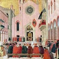 St Vincent Ferrer Preaching in front of the Church of Sant Eufemia in Verona - Bartolomeo degli Erri